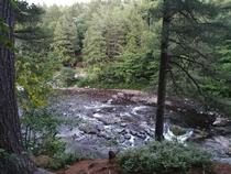 My camping view in Sainte-Agathe QC Canada