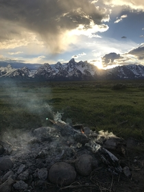 My campsite across from Grand Teton