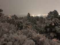 My city last night first decent snow of the year
