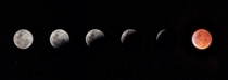 My composite of the lunar eclipse phases leading up to totality