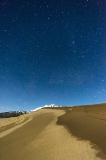 My crazy similar shot of stars over Great Sand Dunes National Park CO