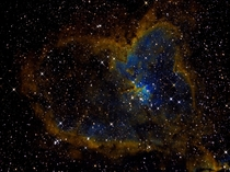 My dad built an observatory in our backyard and develops these as a hobby This is the Heart Nebula