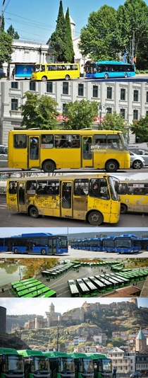 My developing country of Georgia has been renewing its th century rust oven fleet with an armada of brand new electric buses Pedestrian life just got easier
