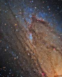 My extreme close-up portrait of the Andromeda Galaxy Even amateur gear can reveal individual blue supergiant stars that are  million light years away