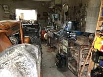 My father-in-laws garage at his farm in Norway