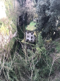 My favorite abandoned thing in the whole world This is an abandoned flour mill in Sorrento Italy