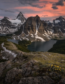 My favorite landscape Ive yet visited Mount Assiniboine Provincial Park Canada