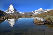 My favorite photo of  The Matterhorn from Zermatt Switzerland