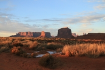 My favorite place Monument Valley Utah December th  Sunset Canon D