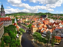 My favorite small town in Europe Cesky Krumlov Czech Republic