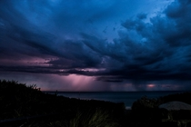My favourite storm shot Port Phillip Bay from Parkdale Victoria Australia OC