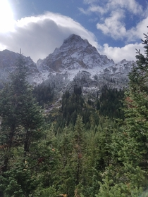 My fiance and I took our first ever backpacking trip Grand Tetons Wyoming Cascade Canyon