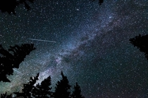 My first attempt at astrophotography The Milky Way Perseid meteors and maybe Saturn