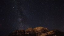 My first attempt at astrophotography what do you guys think Taken in Wadi Rum - Jordan