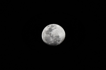 My first attempt at capturing the moon with a basic camera and lens Clicked on Tuesday th January