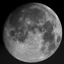 My first attempt at lunar photography with an  SCT remember to look up