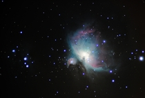 My first attempt at The Great Orion Nebula  x-post from rastrophotography