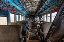 My first attempt at urban exploration an abandoned train did not disappoint