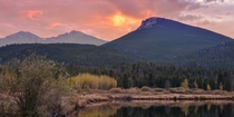 My first Colorado sunset at Longs Peak