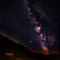 My first decent Milky Way picture taken in the Austrian Alps