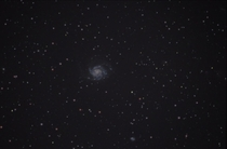 My first ever attempt at deep sky astrophotography Super happy with the result M The Pinwheel Galaxy