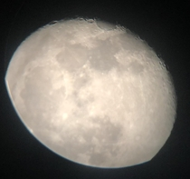 My first good photo of the moon