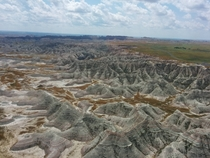 My first helicopter ride at Badlands National Park in South Dakota