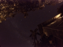 My first night sky photo from my backyard in Maui Hawaii Taken with a gopro hero silver Google photos touched it up for me
