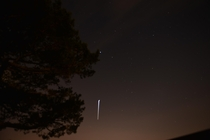 My first observation of the ISS