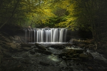 My first post on reddit Oneida falls set like a stage with a perfect spotlight Ricketts Glen