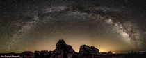 My first successful panorama of the Milky Way Thought you guys would enjoy it x