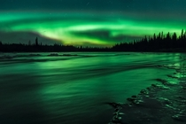 My first time seeing the Aurora A truly mesmerizing sight Swedish Lapland ryanheffron