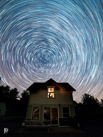My first time shooting star trails Wisconsin