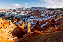 My first time visiting Bryce Canyon - the snow was stunning against the red rocks
