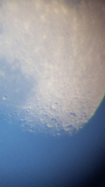My first time zooming in on the craters of the Moon