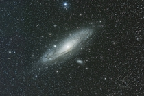 My first tracked shot of the Andromeda Galaxy M
