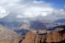 My first visit to the Grand Canyon was greeted by a rainbow