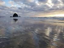 My first visit to the Oregon coast in February Haystack Rock Cannon Beach