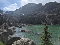 My fishing spot on Saturday at Estes Park Colorado