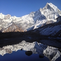 My friend is on a trip around Asia and took this beautiful picture HimalayasNepal by Jeppe Billund