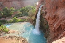 My friend took this picture this summer of my favorite spot in the world -- Havasu Falls Grand Canyon Arizona
