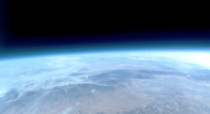 My friends and I launched a weather balloon yesterday from smoky California Heres the view at  feet