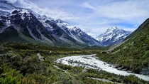 My girlfriend and I sat here for what felt like forever and it was still not enough time Best hike in the world Hooker Valley Track Mount Cook New Zealand