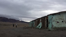 My girlfriend and little brother exploring around the ghost town structures in Coaldale NV