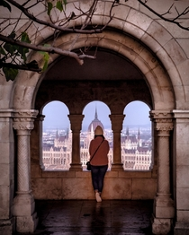 My girlfriend looking across Budapest from Fishermans Bastion  ben_fyfe