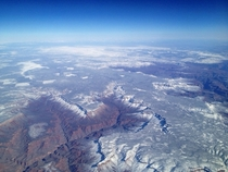 My Grand Canyon pic with a dusting of snow coming back to Phx from Vegas