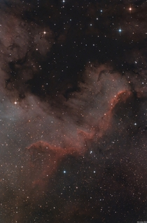 My high resolution version of The North America Nebula - taken last night from my backyard