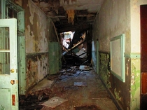 My high school hallway bottom floor