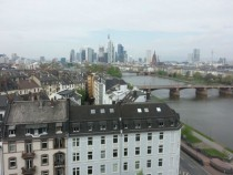 My hotel view of Frankfurt au Main Germany for the past week
