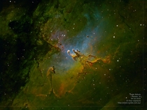 My  hour exposure of the Pillars of Creation